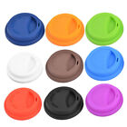 Family Cafe Silicone Round Water Tea Coffee Mug Cup Sealed Lid Cover 2pcs