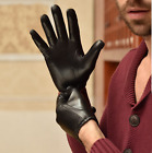 man's short classic casual top first class Italy real leather lambskin gloves