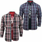 Mens Check Shirt & T-Shirt Combo by D555