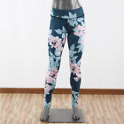 US Womens Skinny Stretchy Floral Sports Gym Yoga Run Legging Trousers Pants