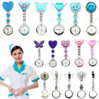 Stainless Steel Nurse Watch Clip Brooch Tunnic Fob Medical Quartz Free Battery