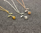 Women Rose Flower Pendant Chain Beauty And The Beast Necklace Fashion Jewelry