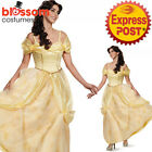 K394 Deluxe Beauty & The Beast Princess Belle Long Fancy Dress Up Gown Costume