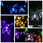 Solar Power 20LED Butterfly String Light Colorful Outdoor Garden Decor Lamp