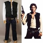 Star Wars 4 A New Hope ANH Han Solo Cosplay Outfit Costume Suit Pants Shirt Vest