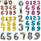 "32"" Gold Silver Numbers Balloons Aluminum Foil Helium Balloon Wedding Party"