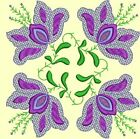 Anemone Quilt Squares 2- DESIGN 1- Anemone Machine Embroidery Singles In 4 Sizes
