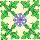 Anemone Quilt Squares 2- DESIGN 3- Anemone Machine Embroidery Singles In 4 Sizes