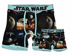 Official Star Wars Space Scenes Death Star Mens Boxer Brief Underwear Loungewear $10.99 USD