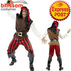 CA403 Pirate Ship Mate The Caribbean Captain Jack Sparrow Mens Costume Outfit