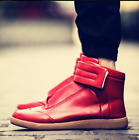 Dancing High Top Tound Toe Sneakers Thicken Patent leather Skateboard
