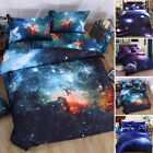 Modern 3D Bedding Galaxy Sky Bed Set Outer Space Single Queen Duvet Cover 4 colo