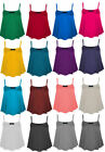 NEW LADIES STRAPPY CAMISOLE JERSEY SWING SLEEVELESS VEST TOP PLUS SIZE 16-22