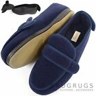 Mens Orthopedic / EEE Wide Fit Adjustable Slipper Boot / Slippers