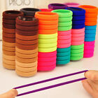 100Pcs Women Girls Hair Band Ties Rope Ring Elastic Hairband Ponytail Holder