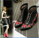 Womens Embroidered Pointy Toe Oxford Style Loafer British Style BlocK Heel Shoes
