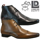 MENS LAWLER DUFFY REAL LEATHER LACE CASUAL OFFICE SMART FORMAL BROGUE SHOES SIZE
