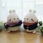 "Molang 9"" Blue Jean Cute Rabbit Bunny Soft Doll Cushion Pillow Anime Toy Gift"