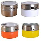 Sale Stainless Steel Magnetic Spice Portable Storage Tins Pot With Rack Holder