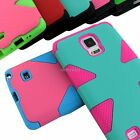 samsung note 4 accessories - For Samsung Galaxy Note 4 Dynamic Tuff Impact Shockproof Hybrid Armor Hard Case