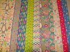 INTO THE WOODS CUTE BRIGHT BEARS FOX TOADSTOOLS 100% COTTON FABRIC
