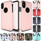 "FOR APPLE IPHONE 8 (5.1"") SLEEK DUAL LAYER HYBRID CASE SLIM IMPACT COVER+FILM"