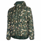 Puma Fun Hooded Padded Winter Zip Up Thermal Jacket Green Camou 830124 26 M1