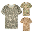 Mens Quick-Drying T-shirts loose Camouflage Training Special Camo Military Tee