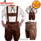 K98 Authentic German Brown Faux Suede Lederhosen Oktoberfest Beer Mens Costume