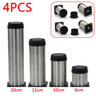 4pcs Adjustable Cabinet Legs Stainless Steel Feet Round Stand For Kitchen