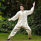 Handsome Chinese Style Men's Kung Fu Suit Tai Chi Clothing Light Gold  2526-7#