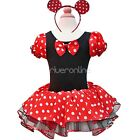Girls Kids Baby Minnie Mouse Fancy Tutu Dress+Party Halloween Outfits  Costume