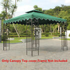 10'x10' Waterproof Gazebo Top Canopy Replacement Patio Pavilion Sunshade Cover