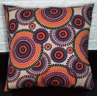 AF258a Orange Nude Pink Ethnic Cotton Canvas Cushion Cover/Pillow Case Customize