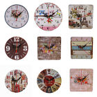 Wooden Large Round/Square Analog Wall Clock Home Office Art Decor Gift Goodish