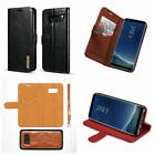 Fr Samsung Galaxy S8+Plus Microfiber Genuine Leather Separable Wallet Case Cover