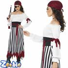 Pirate Woman Costume Caribbean Lady Fancy Dress Outfit Adult Ladies 8-18