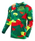 Troy Lee Designs 2016 SE Air Jersey Cosmic Camo Green/Flo Yellow Men Size SM-2XL