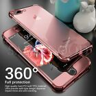 For Apple iPhone 8/7 Plus 360° Shockproof PC + TPU Crystal Clear Case Soft Cover