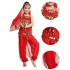 Children Girl Kid Belly Dance TopPants Outfit Indian Bollywood Costume Suit Set