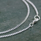 Silver Necklace chains Sterling Silver Plated Brass Curb Chain 2.1mm cn194s