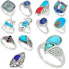 Factory direct jewelexi blue 925 sterling silver ring jewelry 5031B