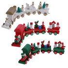Cute Wooden Charming 4 Piece Christmas Train Santa Tree Ornament Decor Toys Gift