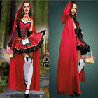 Adult Little Red Riding Hood Costume Fancy Cosplay Halloween Carnival Dress