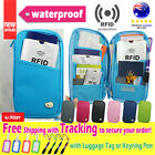 Travel Wallet Ticket Holder wt RFID Blocking Cover for Passport Card +Pen+Tag D2