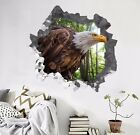 3D Forest Eagle 3098 Wall Murals Wall Stickers Decal Breakthrough WALLPAPER AU