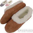 Ladies / Womens Premium Wool Lined Cow Suede High Rise Ballerina Slipper