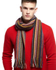 Cashmere Mix Striped Scarf