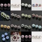 Colorful Crystal Rhinestone Floral Round Ball Disco Loose Spacers Beads Making