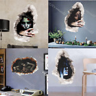 Halloween 3D Horror Ghost Wall Stickers Scary Wall Decals Horror Vinyl HomeDecor
